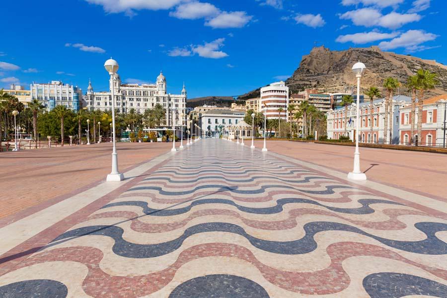Explanada España en Alicante