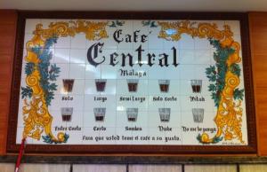 Carta de Cafés en Málaga