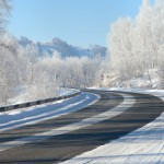 Road in the wintertime