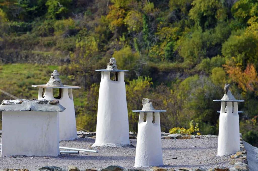 Chimeneas típicas de La Alpujarra granadina