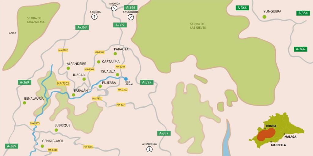 Mapa Bosque de Cobre