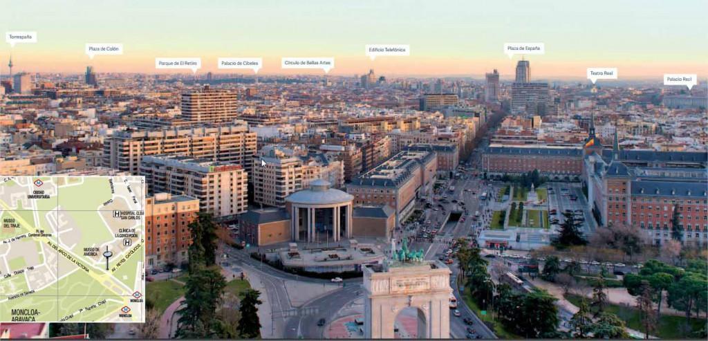 Mirador Faro de Moncloa en Madrid