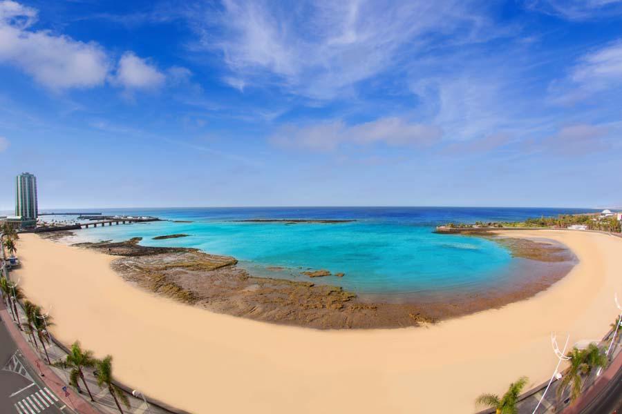 Playa del Reducto en Arrecife Lanzarote