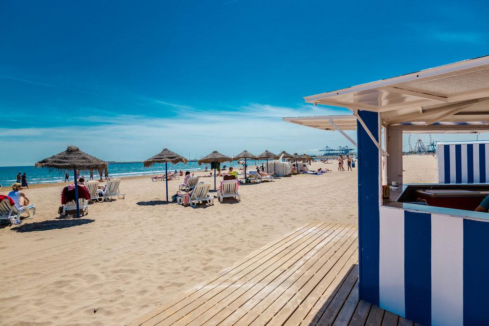 Playa las arenas el cabanyal valencia