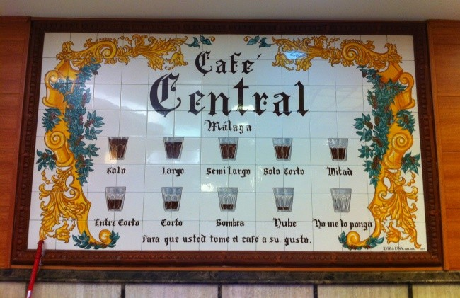 The art of ordering a coffee in Malaga