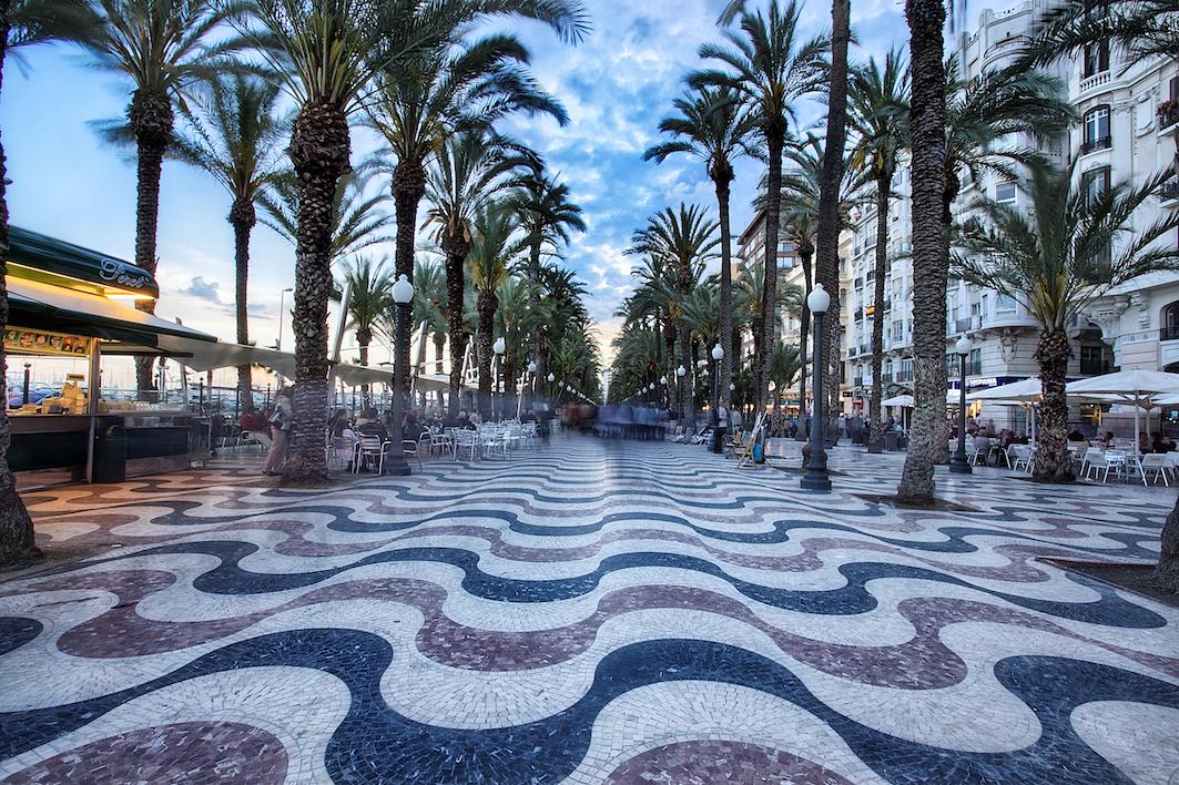 La Explanada de España en Alicante