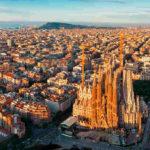 Vista aérea Barcelona diciembre