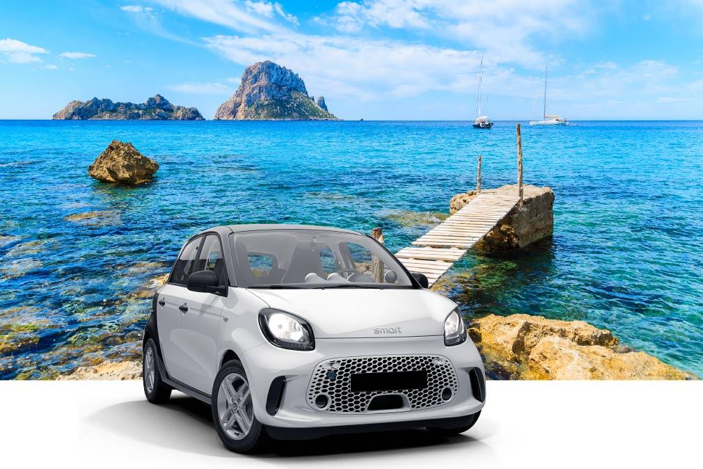 Voiture électrique à Ibiza