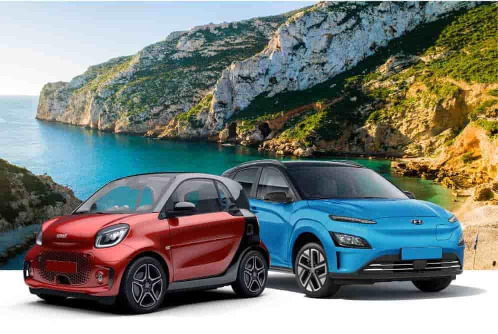 Electric car rental in Menorca