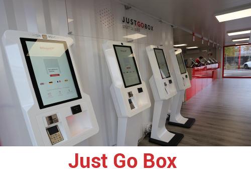 Just Go Box für die Autovermietung