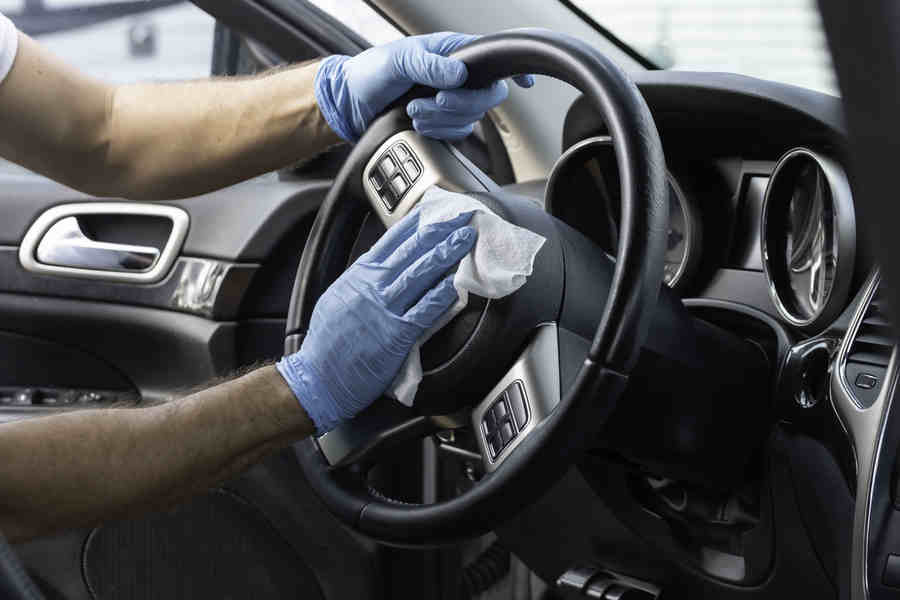 Rent a car - Vehicle cleaning and disinfection