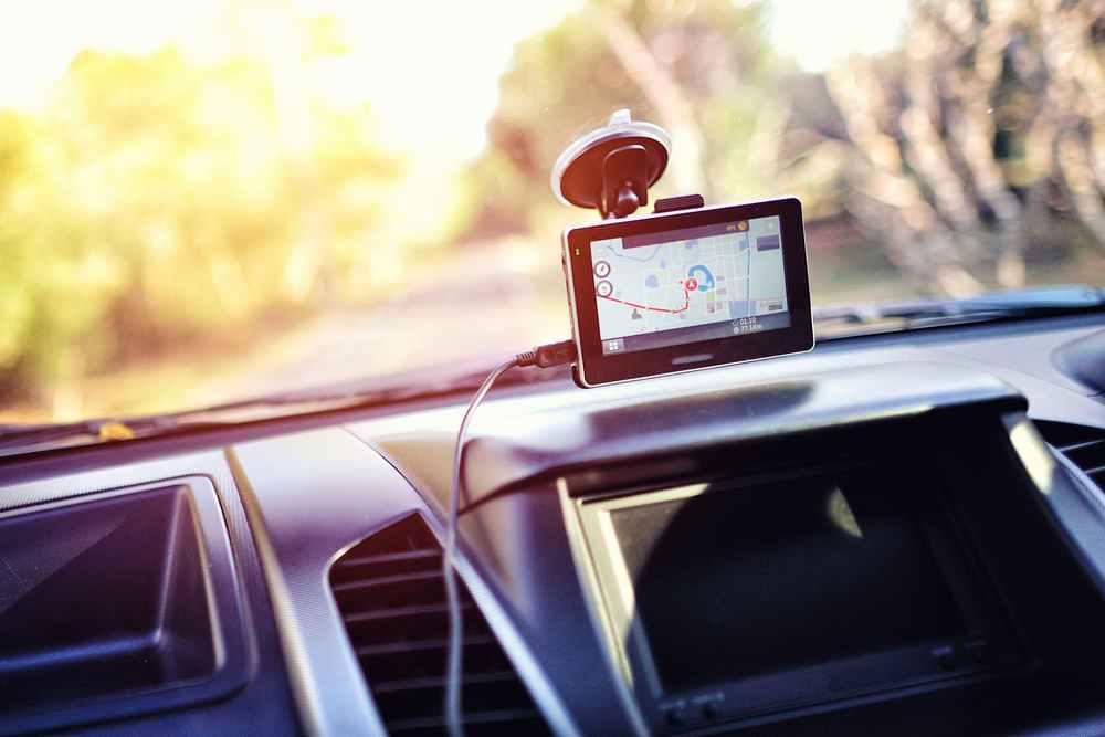 Convertible car interior view