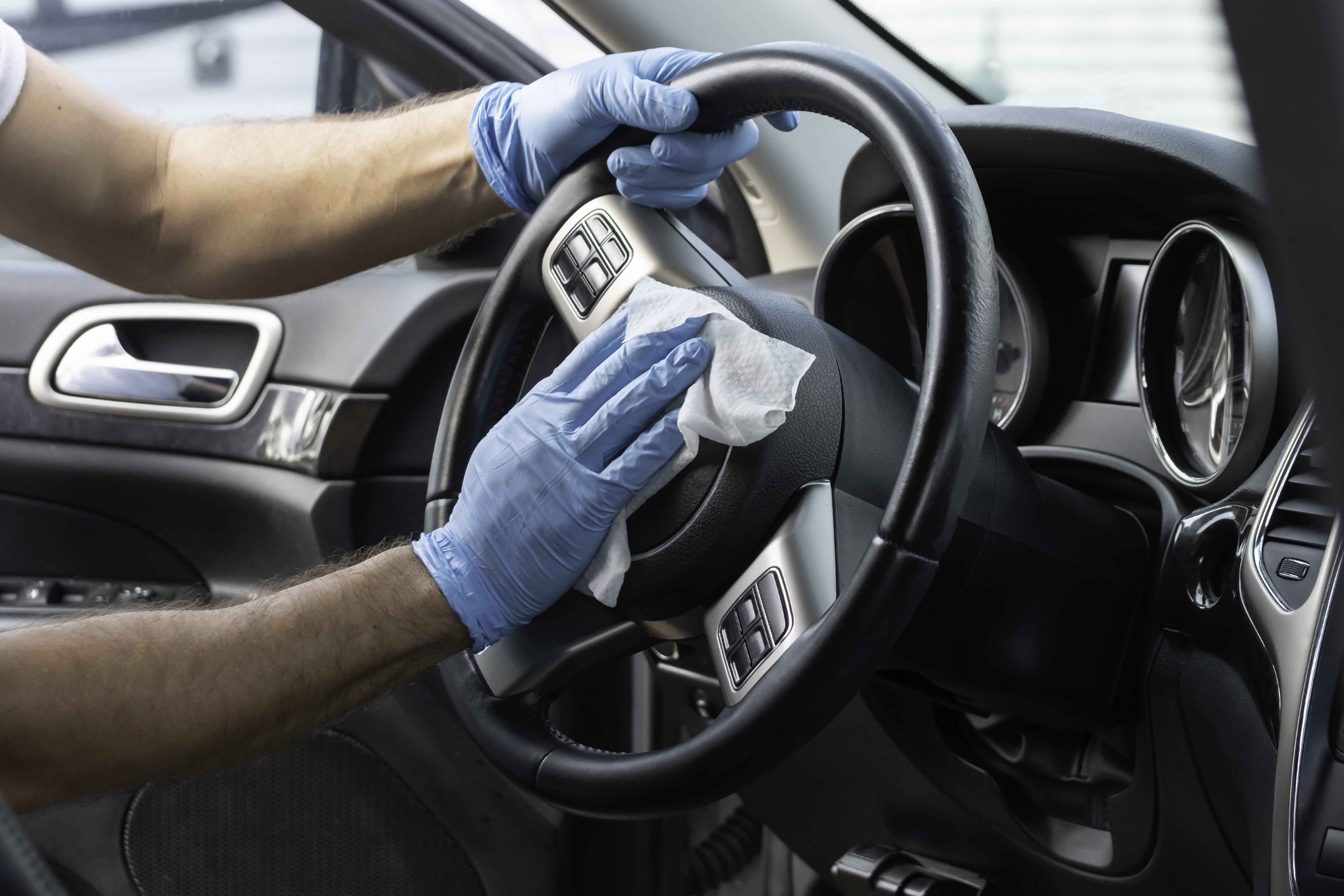 Vehicle cleaning and disinfection