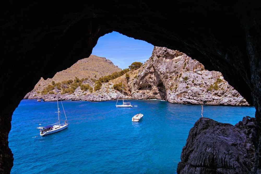 Foto cala y cueva Mallorca