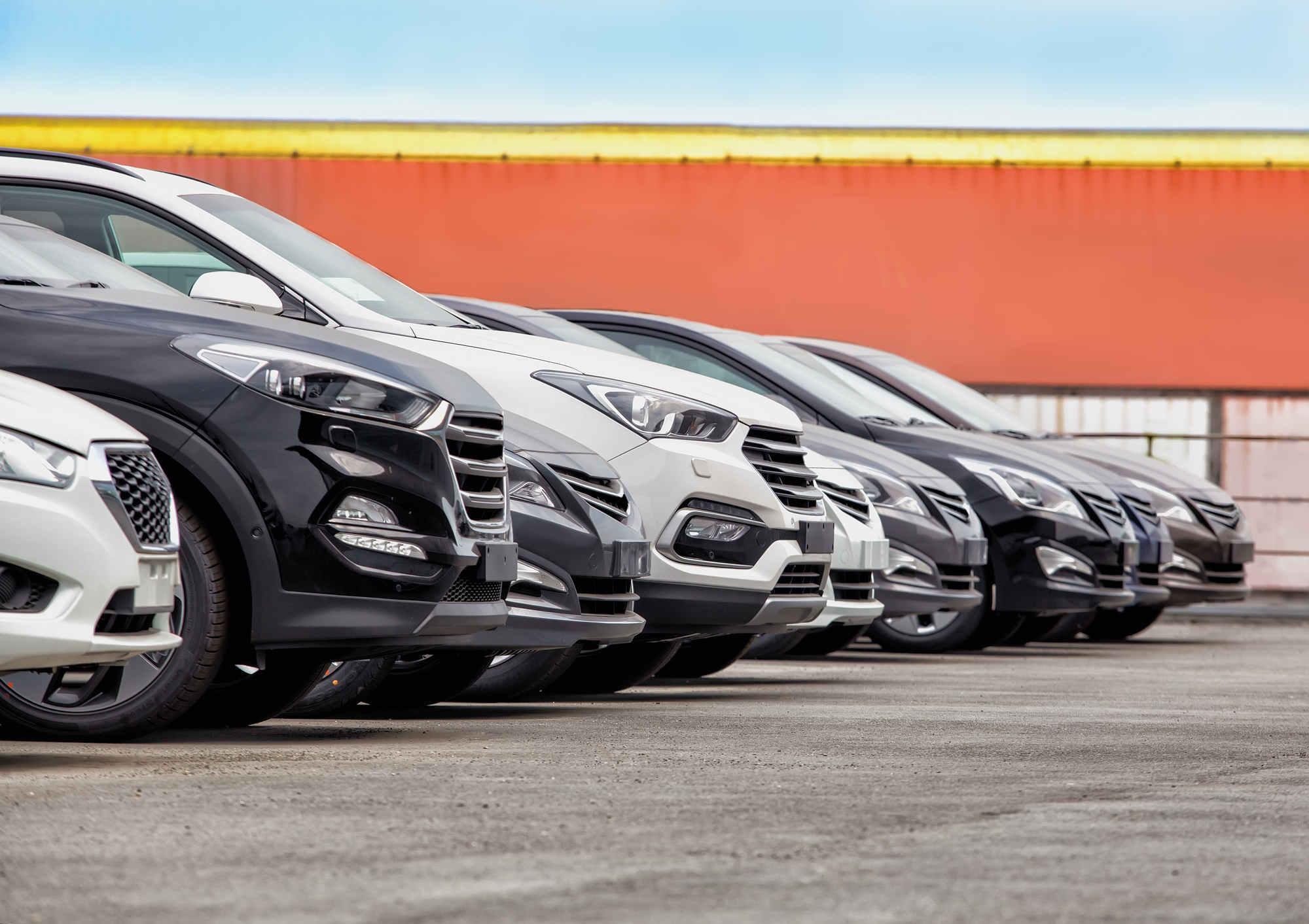 Flotte von Autos